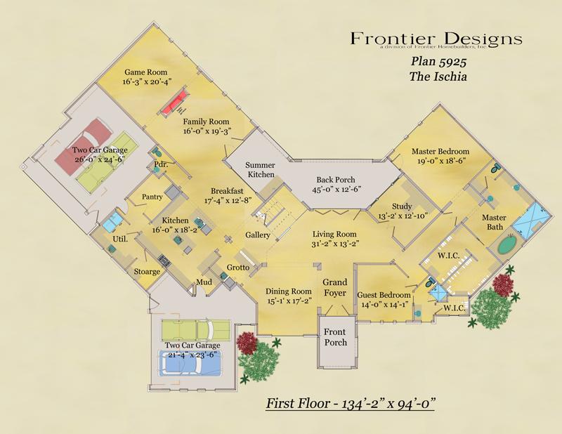 19544 Riverwalk decorative first floor plan